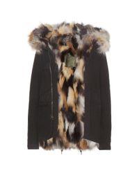 Mr & Mrs Italy - Brown Miniparka Fox Fur-lined Coat - Lyst