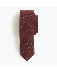 J.Crew | Purple English Silk Tie In Microdot for Men | Lyst