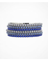Express | Blue Six Row Rhinestone Stretch Bracelet Set | Lyst