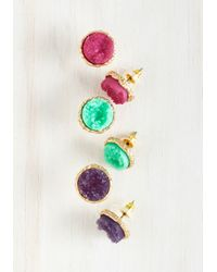 Ana Accessories Inc | Multicolor Return To Throne Earring Set In Rich Tones | Lyst