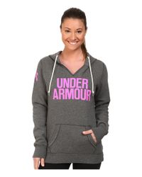 Under Armour | Black Ua Branded Fleece Wordmark Hoodie | Lyst