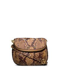 MICHAEL Michael Kors | Animal Bedford Snakeprint Flap Crossbody | Lyst