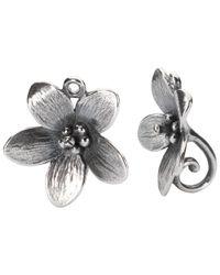 Trollbeads - Metallic Sterling Silver Anemone Drop Earrings - Lyst