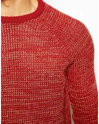 ASOS | Red Twisted Yarn Jumper for Men | Lyst