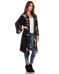 Blue Life Black Topanga Kimono