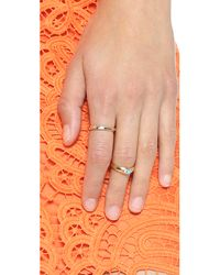 Monica Rich Kosann Metallic Silver Lining Ring Charm - Gold/silver