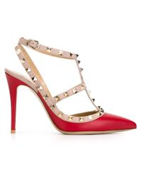 Valentino - Red 'rockstud' Pumps - Lyst