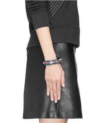 Toga | Multicolor Colourblock Leather Bracelet | Lyst