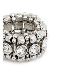 Philippe Audibert - White 'Annette Argent' Crystal Elastic Ring - Lyst
