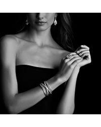 David Yurman - Metallic Cable Wrap Drop Earrings with Prasiolite and Diamonds - Lyst