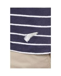 Michael Bastian | Blue Striped Polo Shirt for Men | Lyst