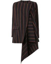 Uma Wang - Brown Draped Virgin-Wool Blazer  - Lyst