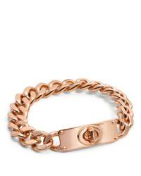 COACH - Metallic Curbchain Turnlock Bracelet - Lyst