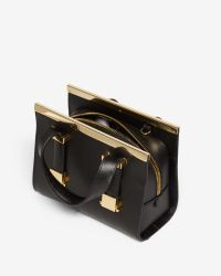 Ted Baker - Black Lauren Small Leather Tote Bag - Lyst
