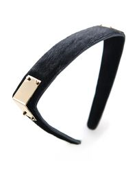 Colette Malouf | Black Haircalf Maneframe Headband | Lyst