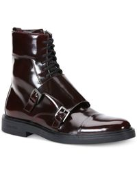 Calvin Klein Purple Davis Box Boots for men