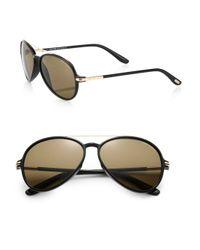 Tom Ford | Brown Ramone Aviator Sunglasses for Men | Lyst