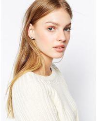Ted Baker Metallic Jowelle Crystal Stud Earrings