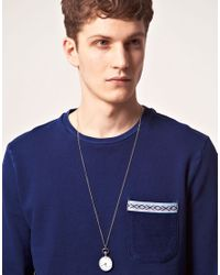 ASOS - Metallic Chunky Silver Pocket Watch Necklace for Men - Lyst