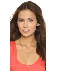 A.V. Max - Metallic Arrow Layered Necklace - Labradorite/gold - Lyst