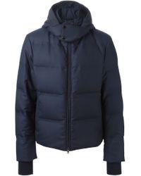 Pal Zileri - Blue Hooded Padded Jacket for Men - Lyst
