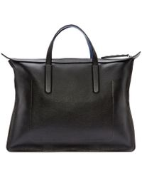 Jimmy Choo - Black Leather Gable Tote - Lyst