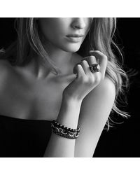 David Yurman | Green Albion Ring With Diamonds, 14mm Gemstone | Lyst