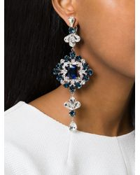 DSquared² | Blue Embellished Earrings | Lyst
