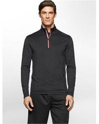 Calvin Klein - Black White Label Performance Tonal Mesh Logo Jacquard 1/4 Zip Jacket - Lyst
