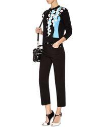 Être Cécile - Black Chevron Pocket Cropped Jeans - Lyst