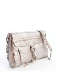 Rebecca Minkoff - Metallic Silver Leather 'Mac' Convertible Lobster Clasp Clutch - Lyst