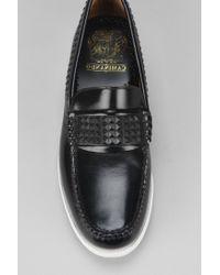 Caminando Black Rubber Studded Loafer for men