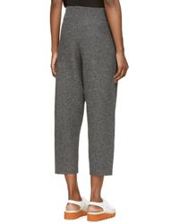 Stella McCartney | Gray Grey Wool Cropped Trousers | Lyst