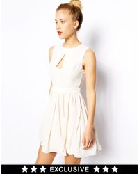 Oasis - White Asis Exclusive Skater Dress - Lyst