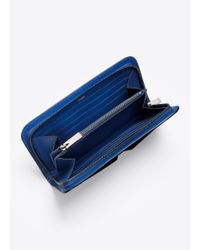 Vince - Blue Signature Collection Stamped Croc Long Wallet - Lyst