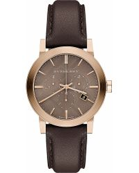 Burberry Brown Bu9755 Gold-toned And Leather Watch