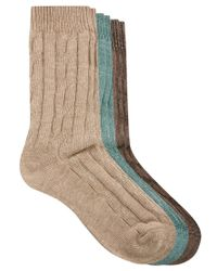 ASOS - Multicolor 3 Pack Cable Knit Boot Socks for Men - Lyst