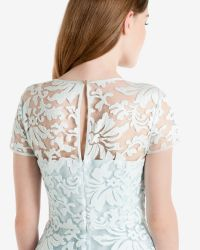 Ted Baker | Blue Floral Lace Dress | Lyst