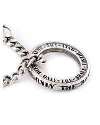 DIESEL - Metallic Ring Pendant Necklace for Men - Lyst