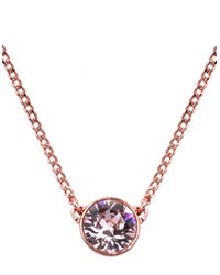 Givenchy | Pink Rose Gold And Swarovski Crystal Pendant Necklace | Lyst