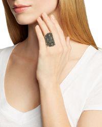 Roni Blanshay Metallic Two-tone Jonquil Ring