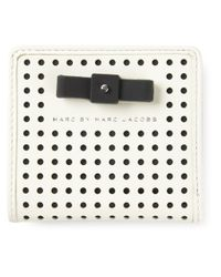 Marc By Marc Jacobs White 'Sophisticato Bow Perf Emi' Wallet