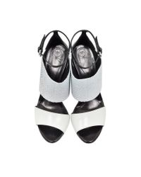 McQ - Black Lilly Off White Ankle Strap Sandal - Lyst