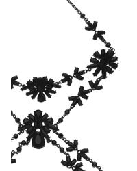 Oasis   Black Facet Flower Body Chain Harness   Lyst