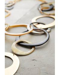 Anthropologie - Metallic Horn Swirl Necklace - Lyst