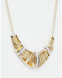 Oasis - Metallic Encased Resin Collar Necklace - Lyst