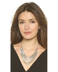 Jules Smith - Metallic Spike Cluster Necklace - Silver - Lyst