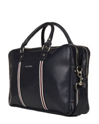 Ben Sherman Blue Iconic Double Zip Commuter Bag for men