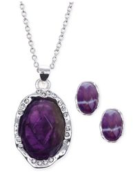 Jones New York | Purple Silver-tone Stone And Crystal Jewelry Set | Lyst