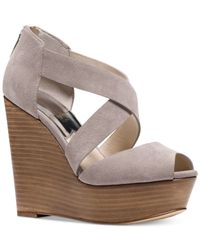 Michael Kors | Gray Michael Arielle Platform Wedge Sandals | Lyst